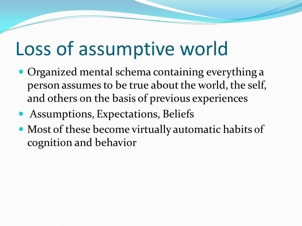 Loss of assumptive world
