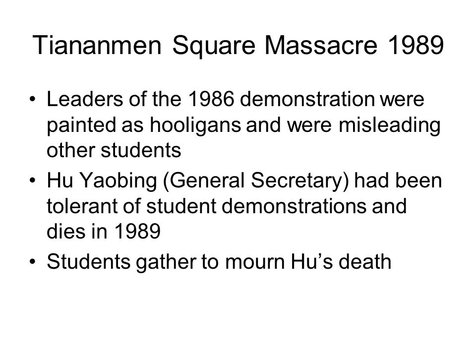 Tiananmen Square Massacre 1989