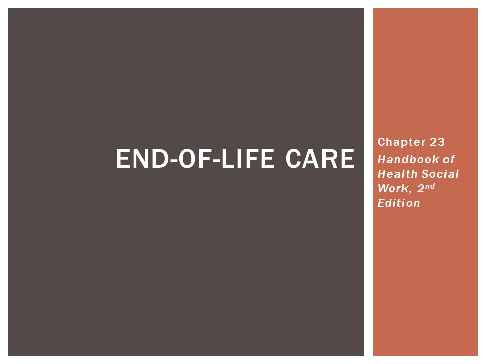 Chapter 23 Handbook of Health Social Work, 2nd Edition