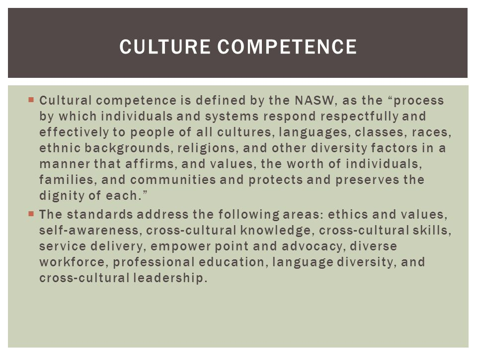 Culture competence