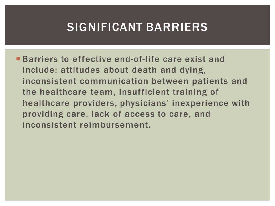 Significant barriers