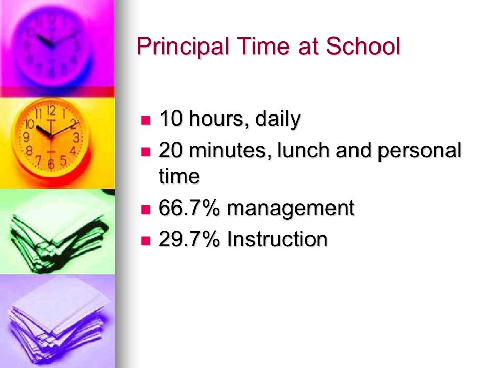Principal Time at School