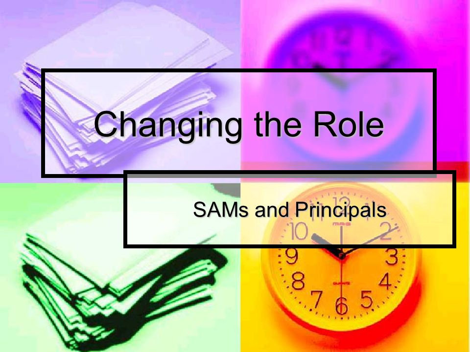 Changing the Role SAMs and Principals