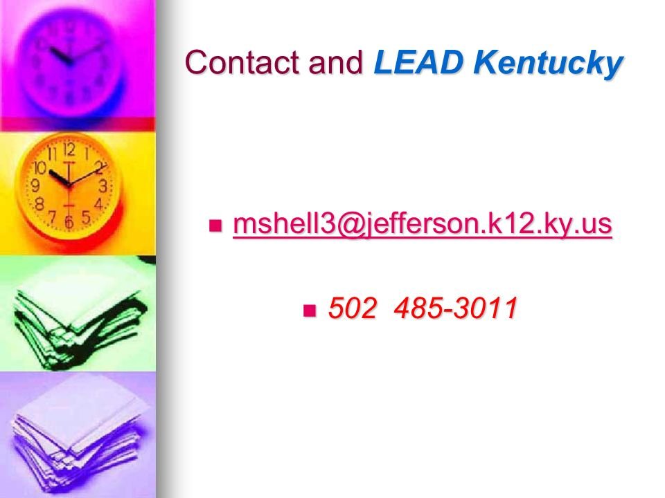 Contact and LEAD Kentucky