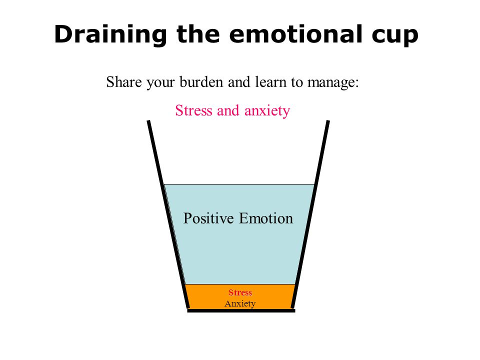 Draining the emotional cup