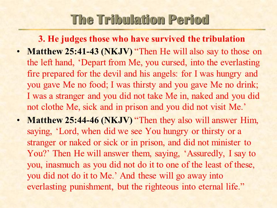 The Tribulation Period 3