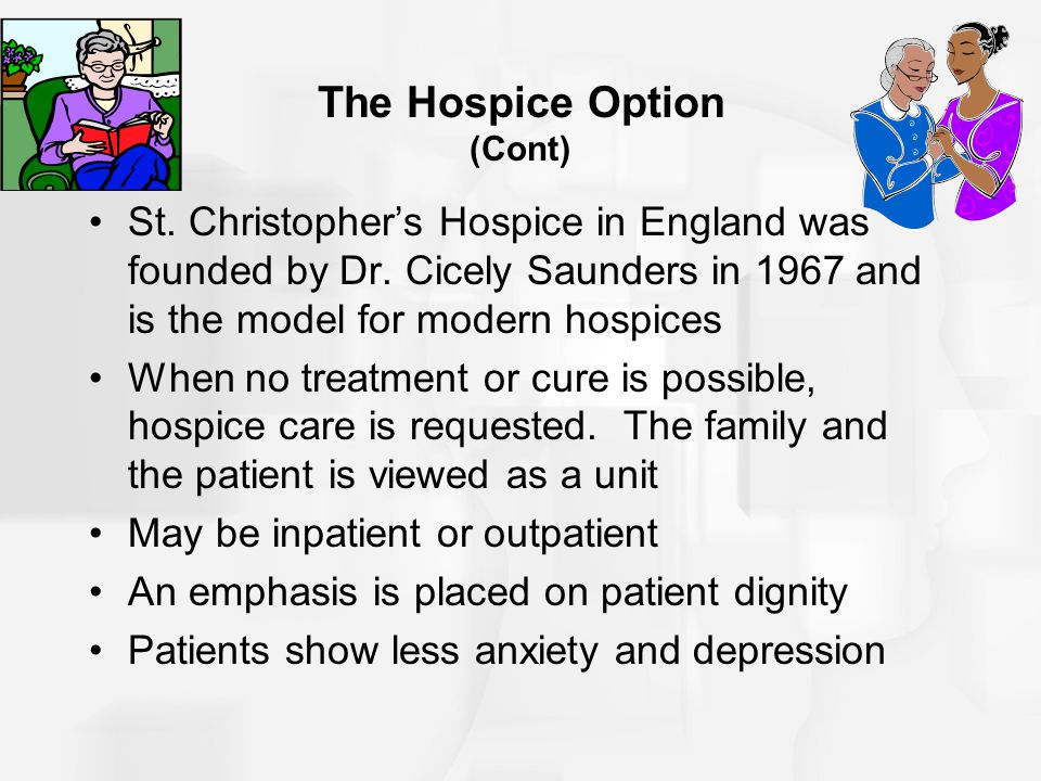 The Hospice Option (Cont)