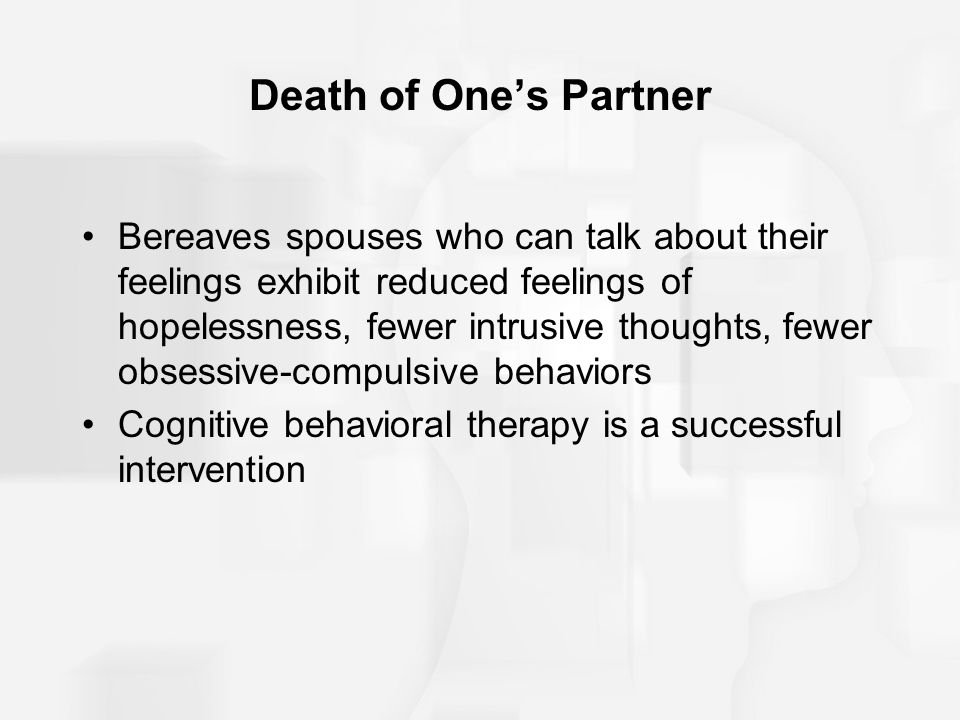 Death of One's Partner