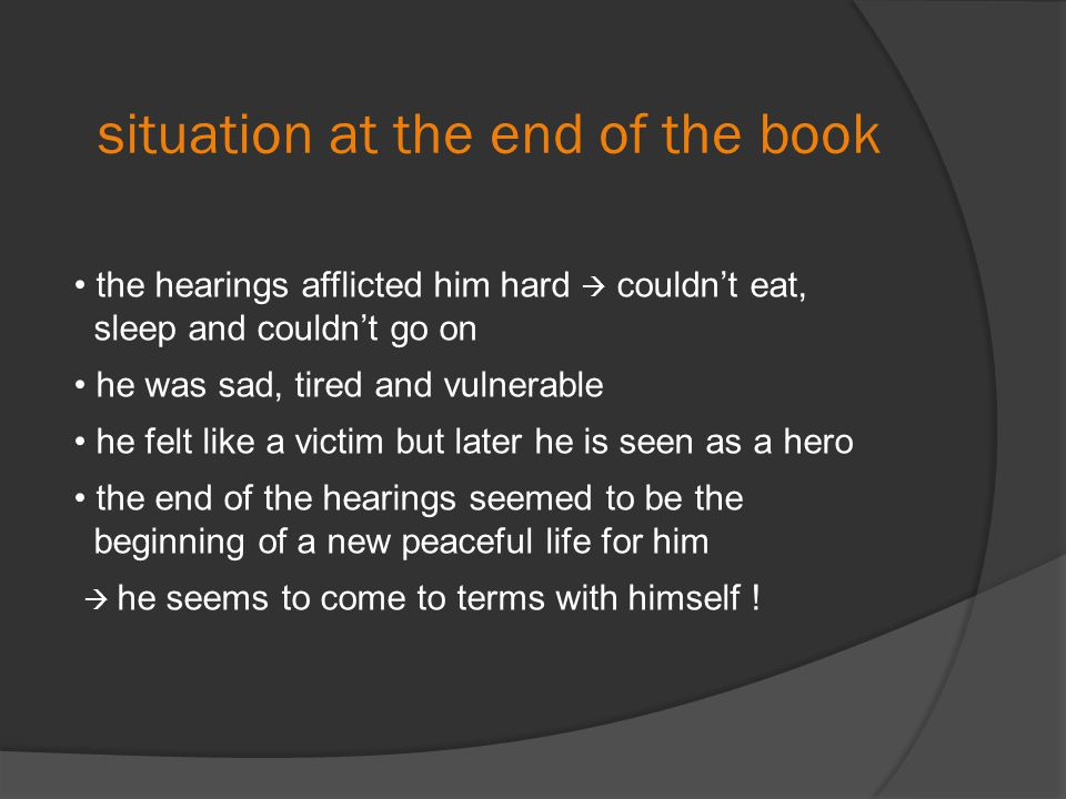 situation at the end of the book