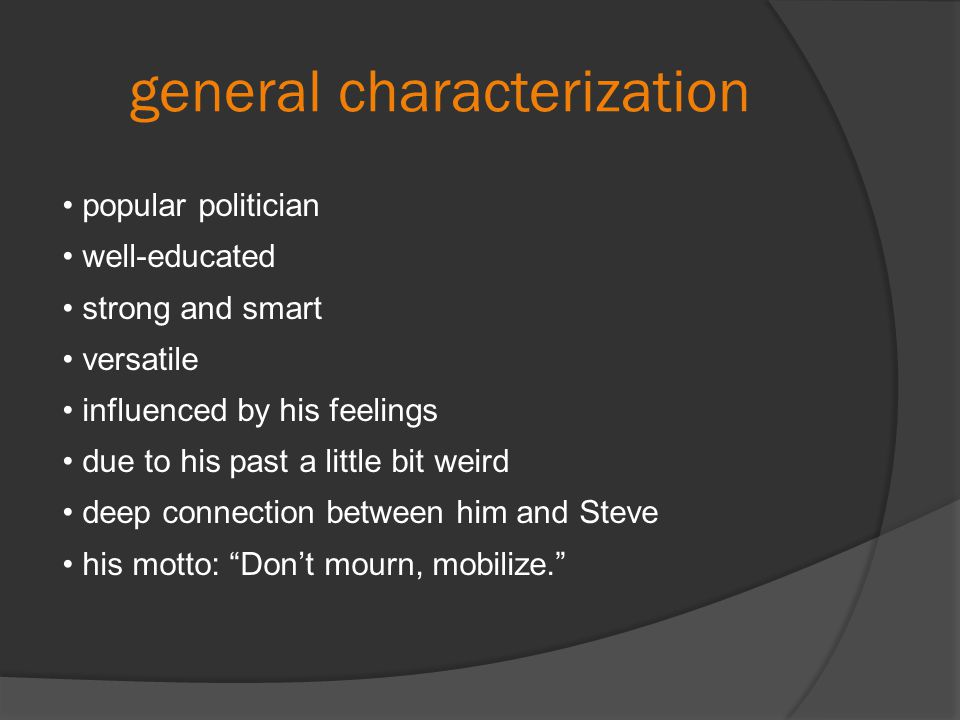 general characterization