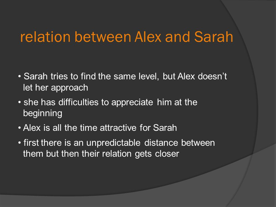 relation between Alex and Sarah
