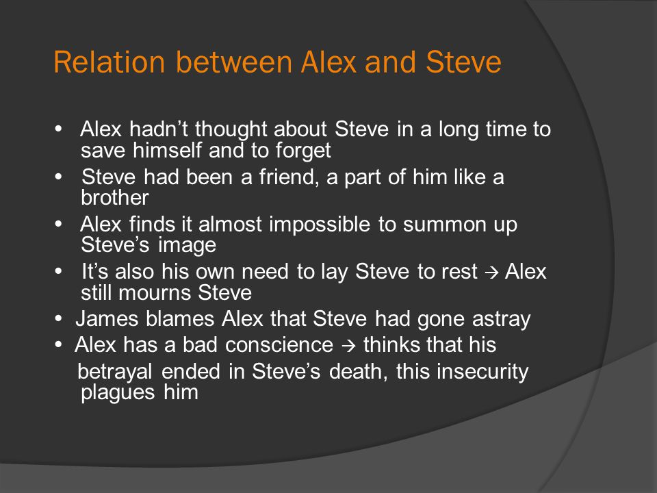 Relation between Alex and Steve