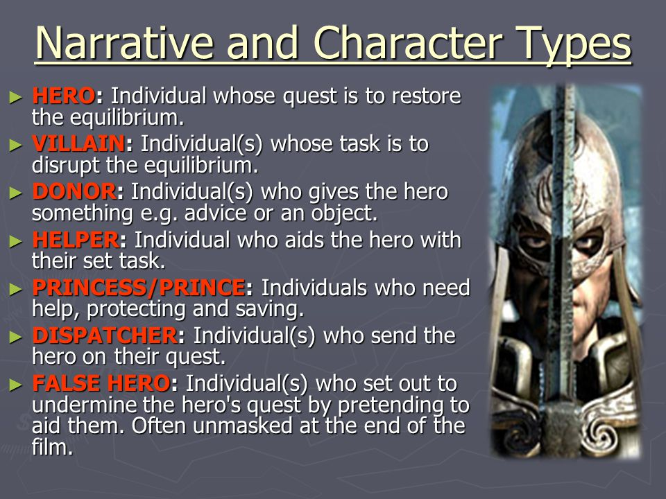 Narrative and Character Types