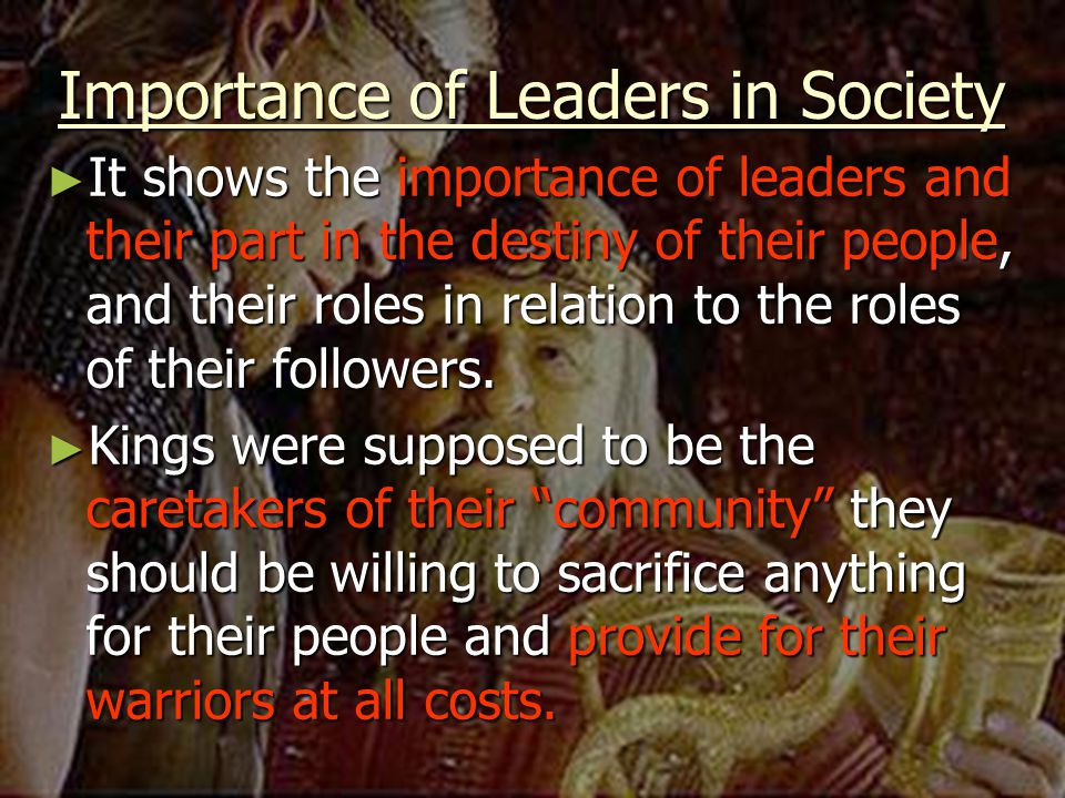 Importance of Leaders in Society