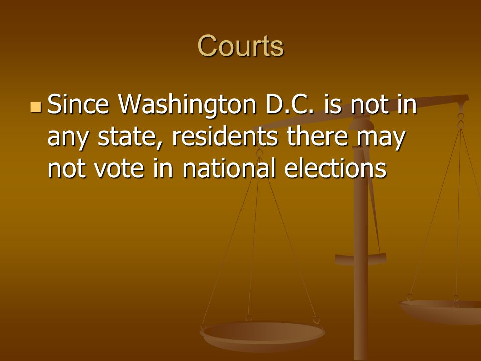 Courts Since Washington D.C.