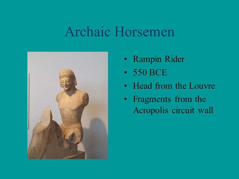 Archaic Horsemen Rampin Rider 550 BCE Head from the Louvre