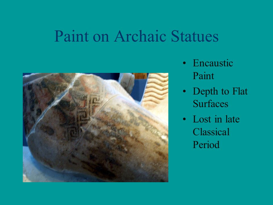 Paint on Archaic Statues