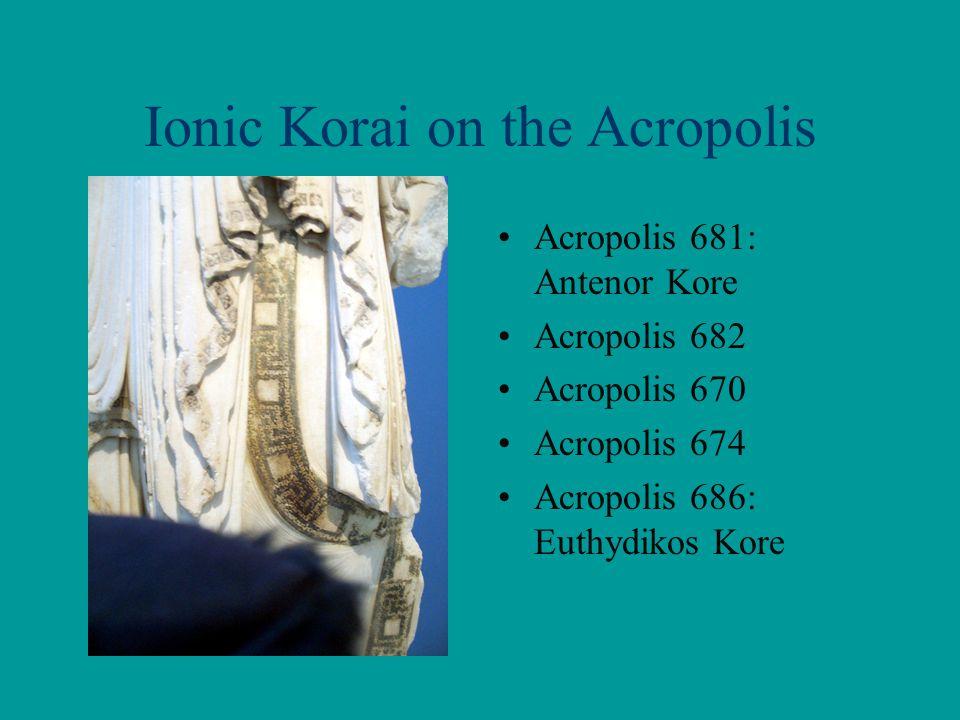 Ionic Korai on the Acropolis