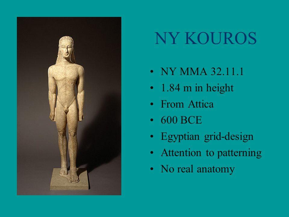 NY KOUROS NY MMA 32.11.1 1.84 m in height From Attica 600 BCE