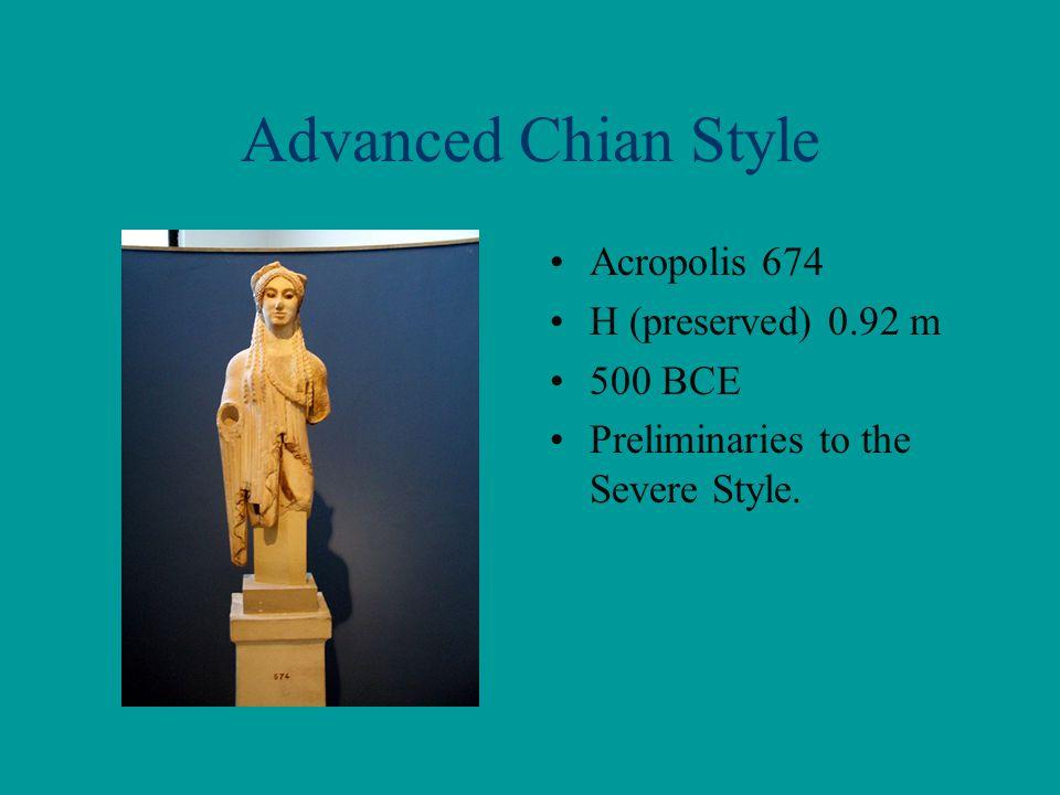 Advanced Chian Style Acropolis 674 H (preserved) 0.92 m 500 BCE