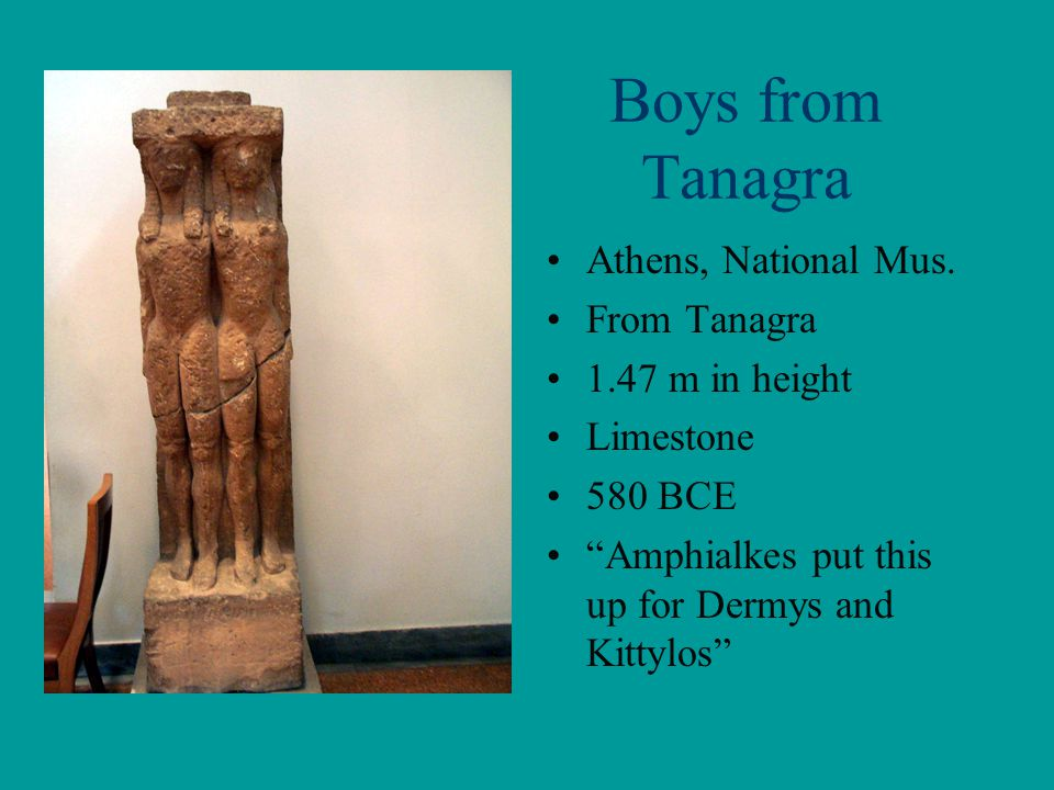 Boys from Tanagra Athens, National Mus. From Tanagra 1.47 m in height