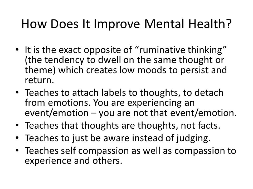 How Does It Improve Mental Health