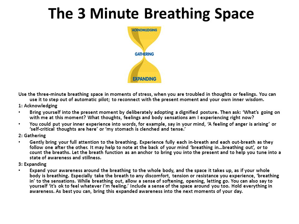 The 3 Minute Breathing Space
