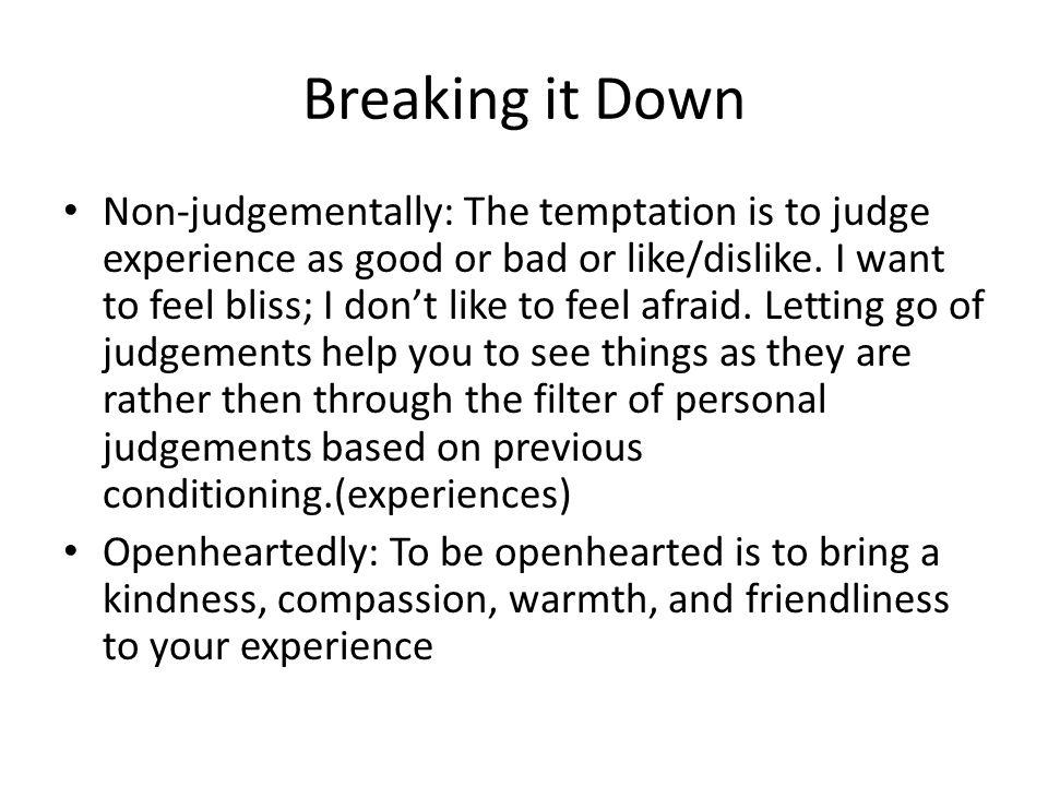 Breaking it Down