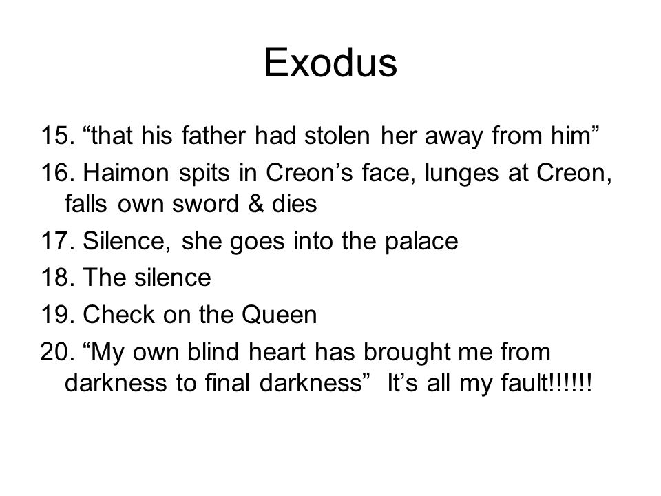 Exodus 15. that his father had stolen her away from him
