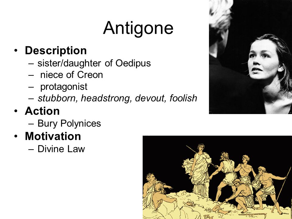Antigone multilayered motives