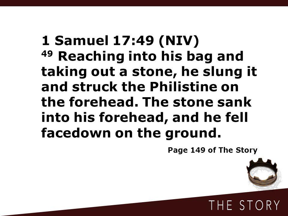 1 Samuel 17:49 (NIV)