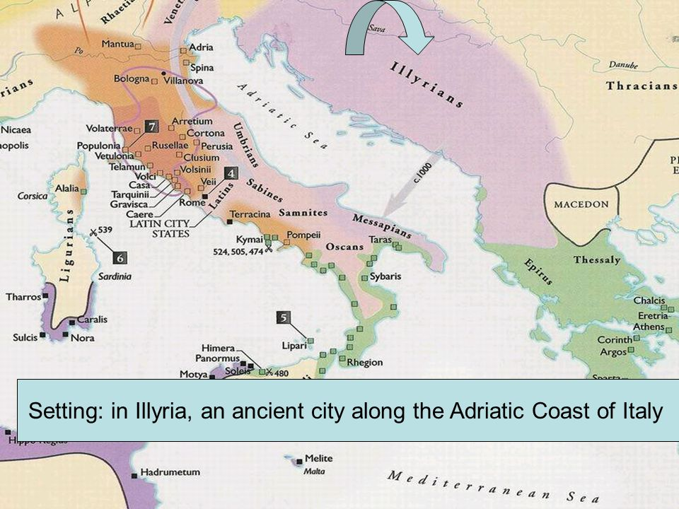 Setting: in Illyria, an ancient city along the Adriatic Coast of Italy