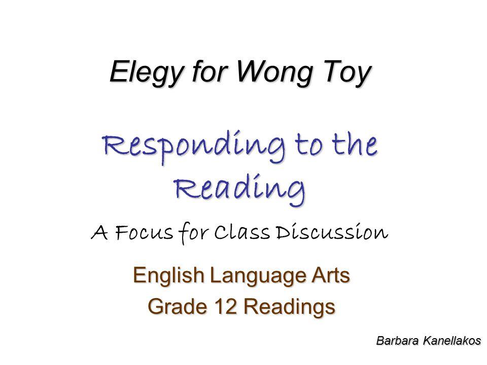 English Language Arts Grade 12 Readings