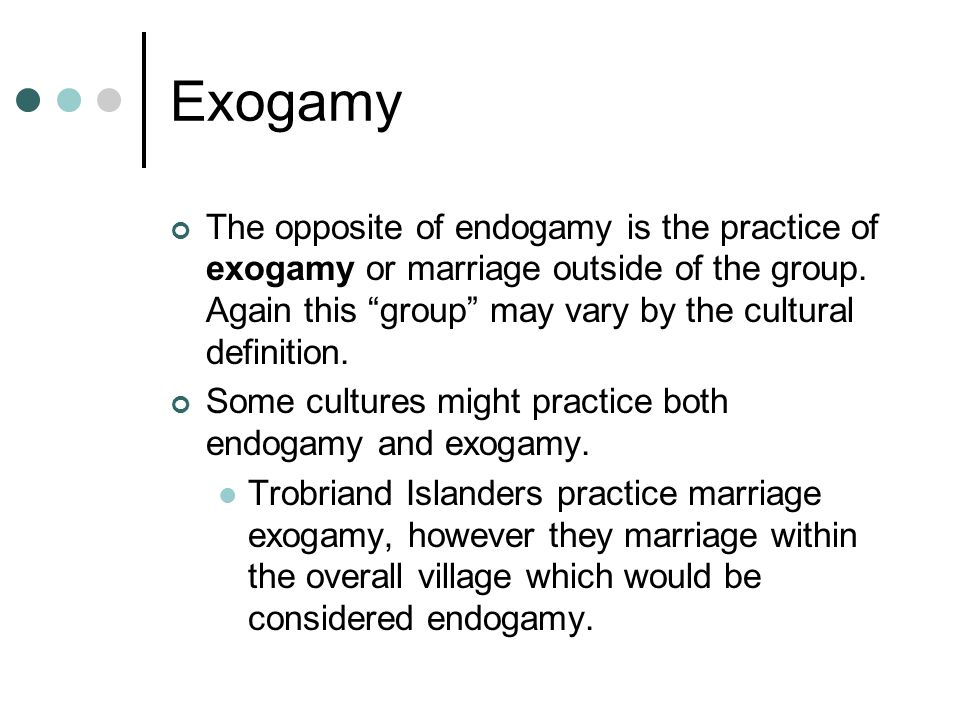 Exogamy