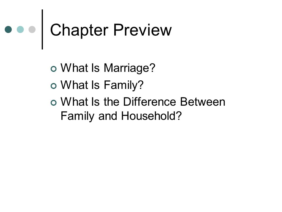 Chapter Preview What Is Marriage What Is Family