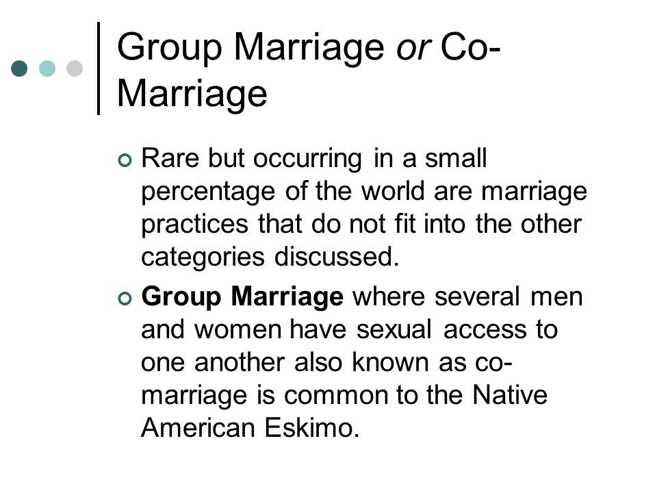 Group Marriage or Co-Marriage
