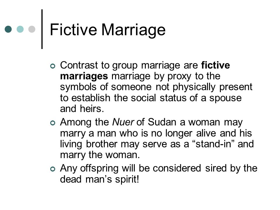 Fictive Marriage