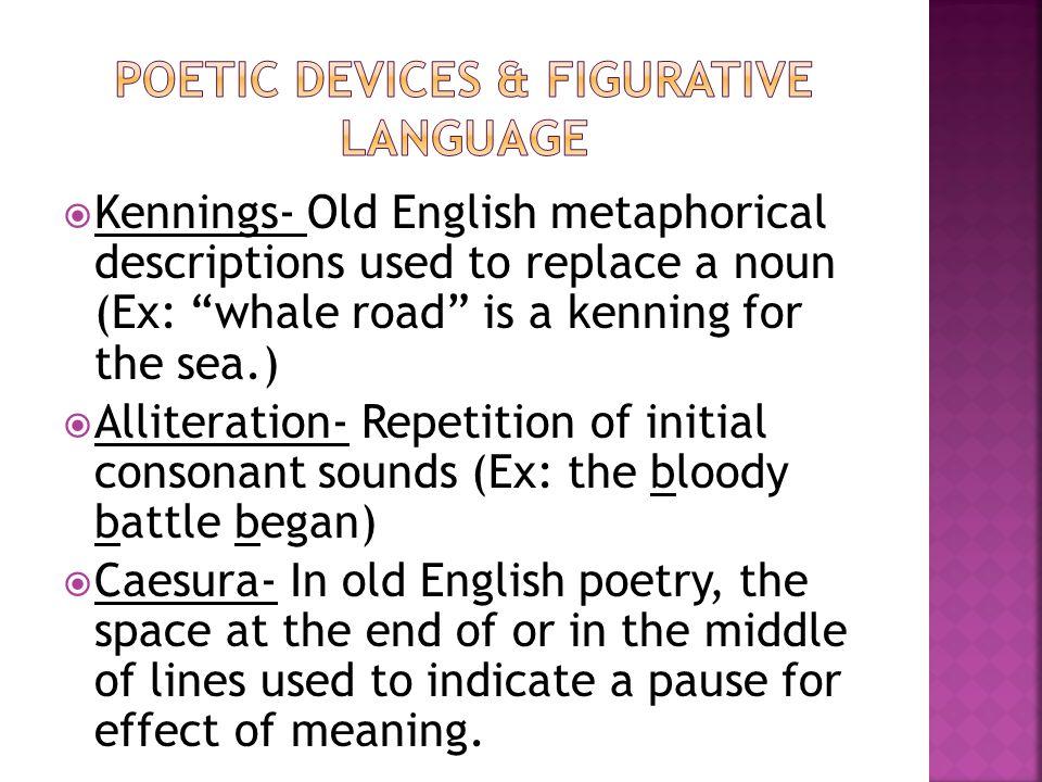 Poetic Devices & Figurative Language