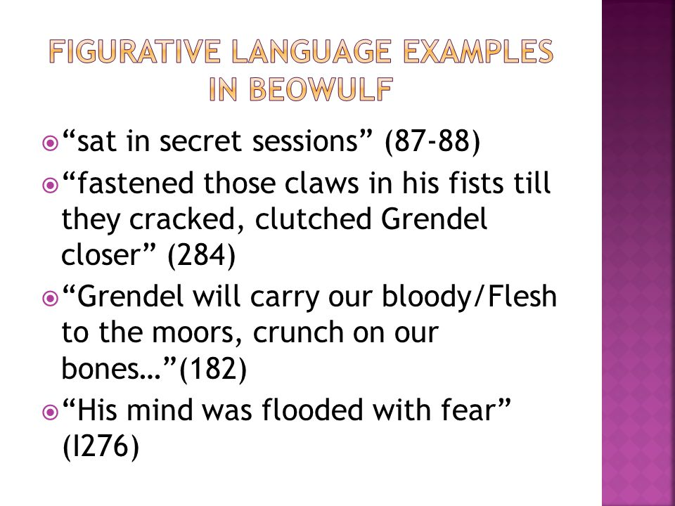 Figurative Language Examples in Beowulf