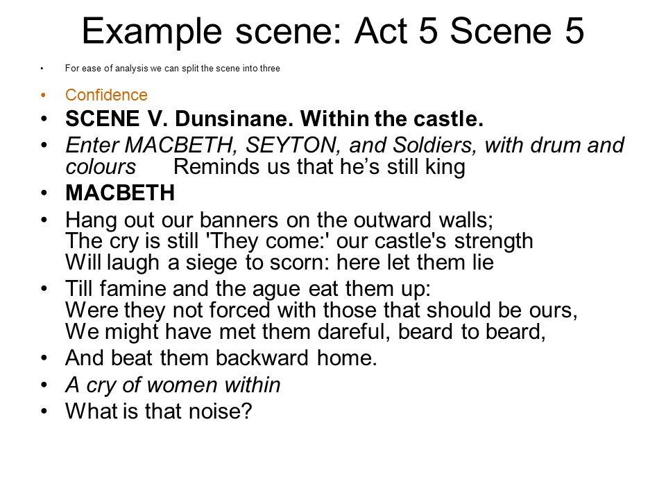 Example scene: Act 5 Scene 5