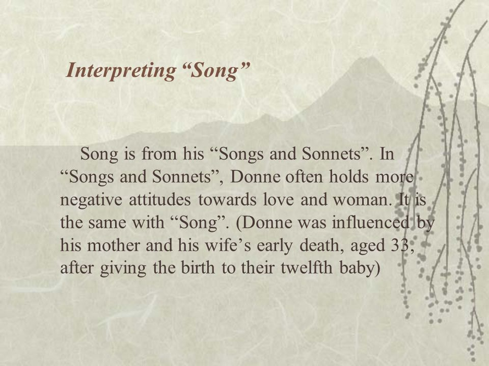 Interpreting Song