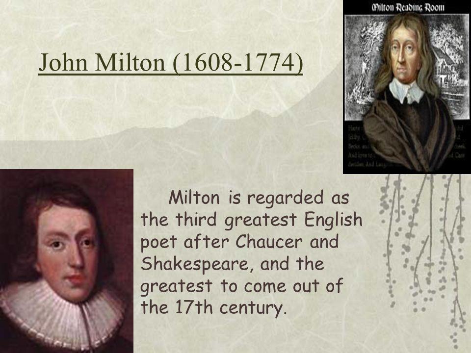 John Milton (1608-1774)