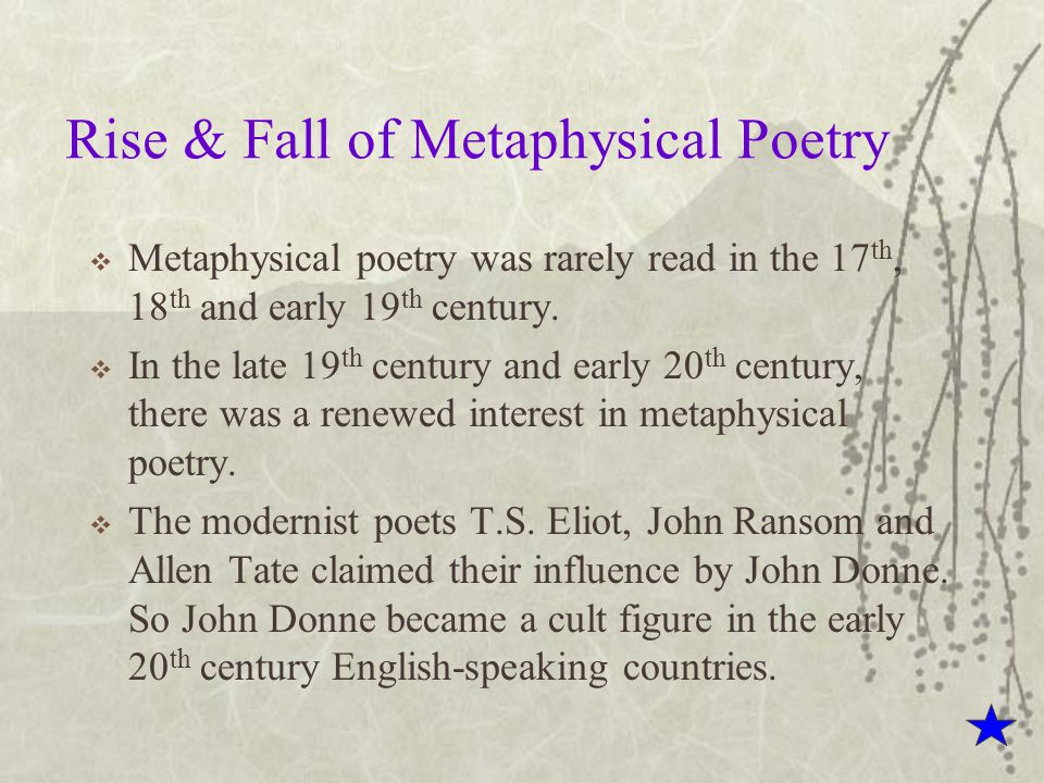 Features Of Metaphysical Poetry