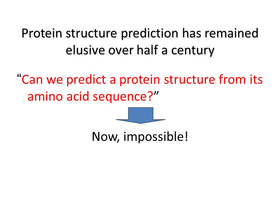 Protein structure prediction has remained elusive over half a century