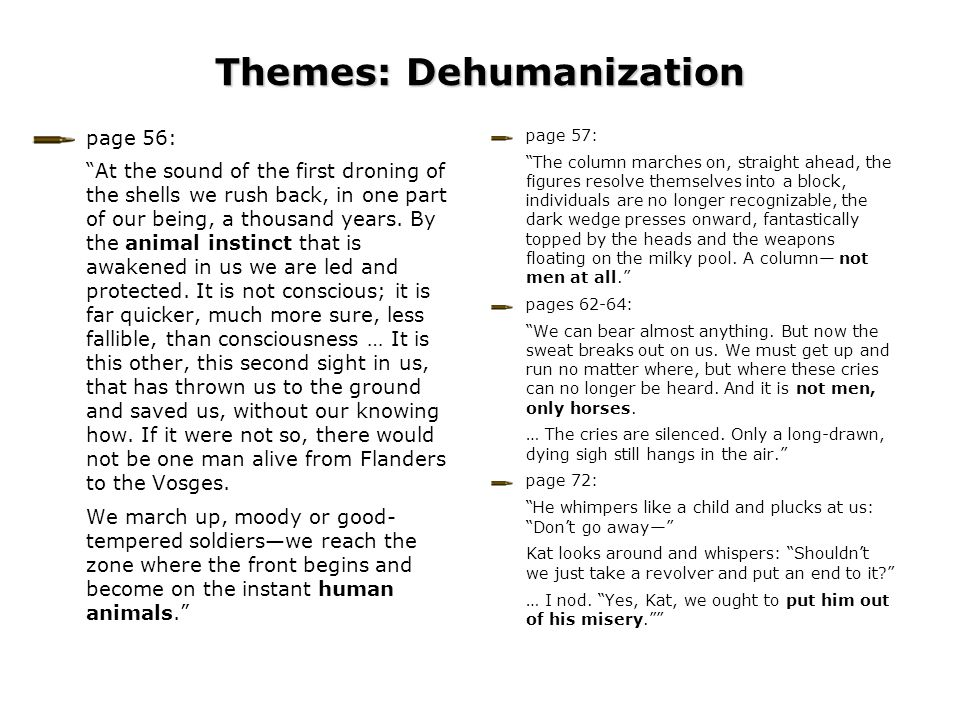 Themes: Dehumanization