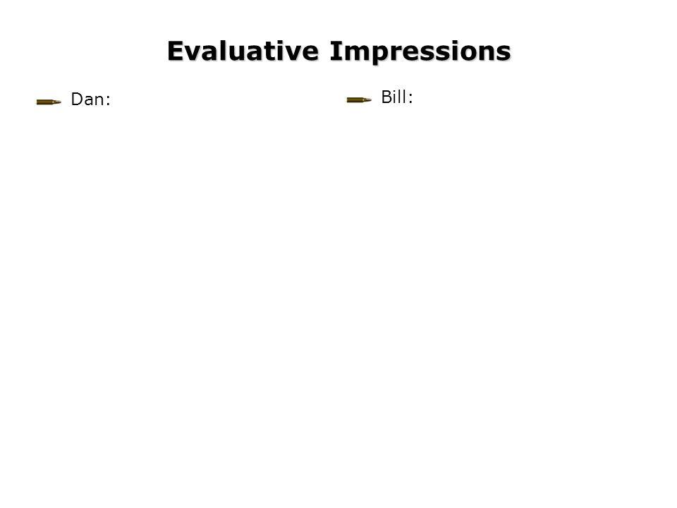 Evaluative Impressions