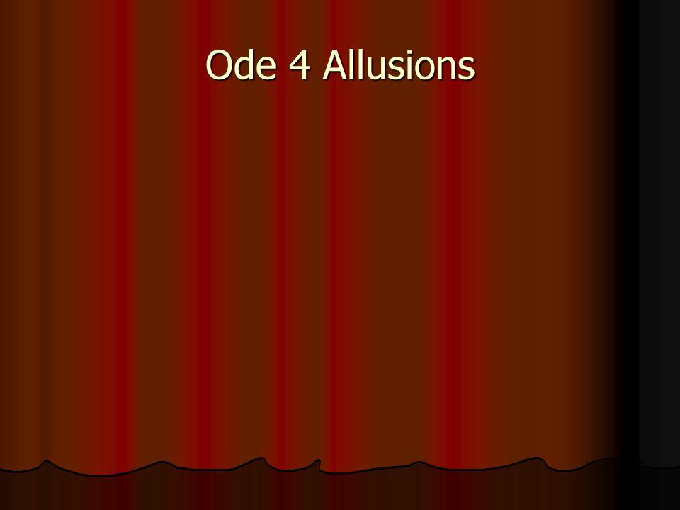 Ode 4 Allusions
