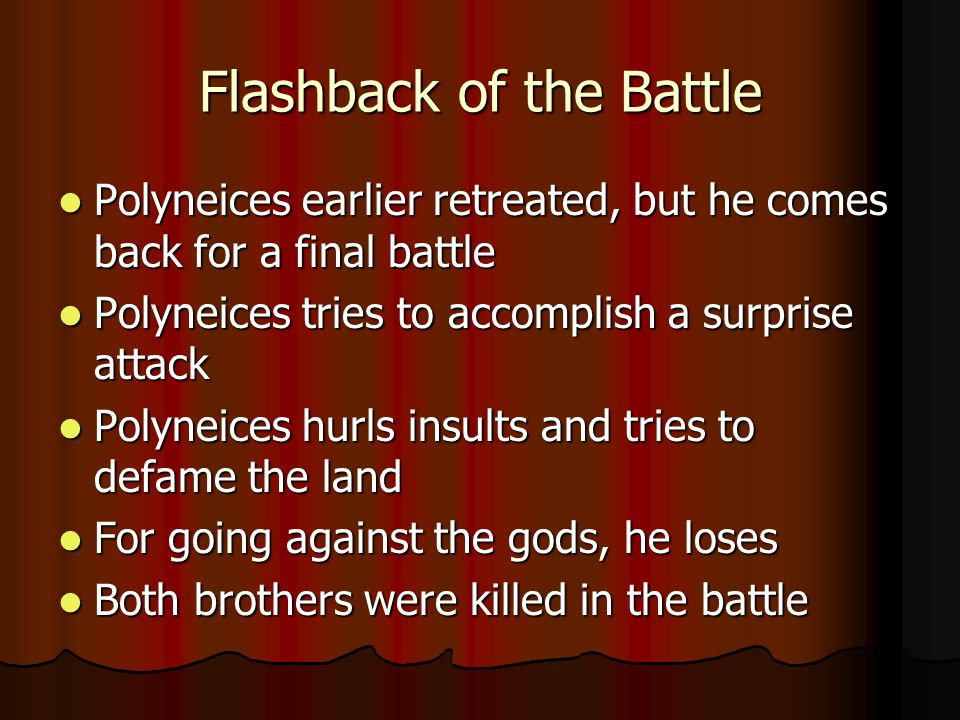 Flashback of the Battle