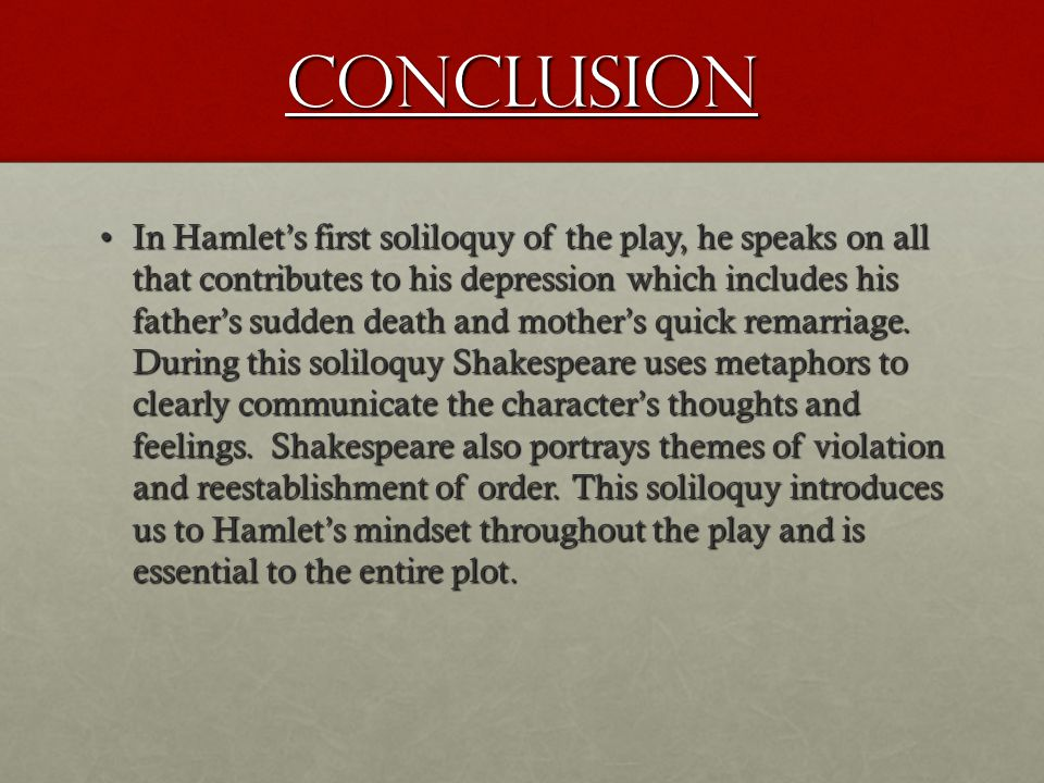 Evaluating hamlets feelings in the play hamlet