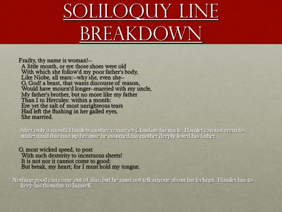 Soliloquy Line Breakdown